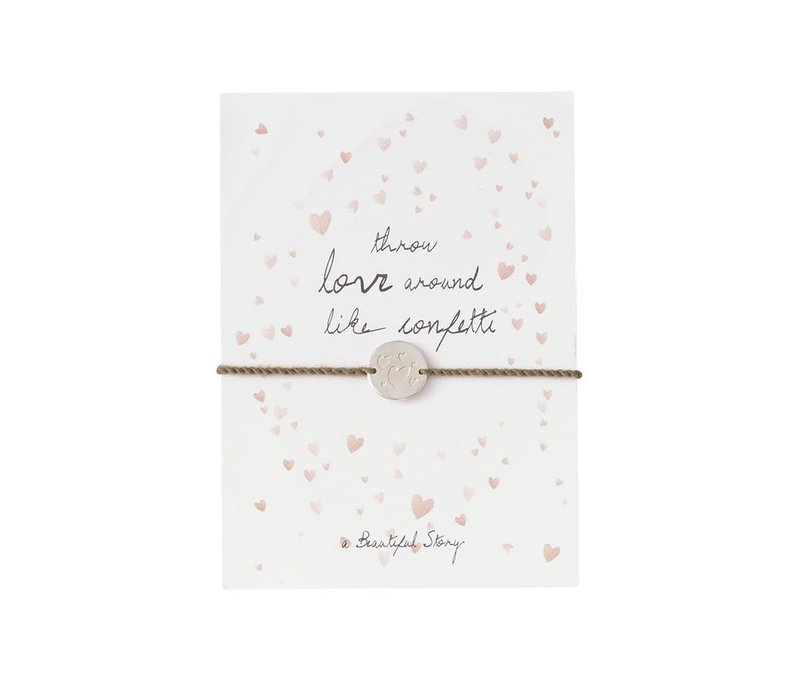A Beautiful Story Sieraden Ansichtkaart - Confetti