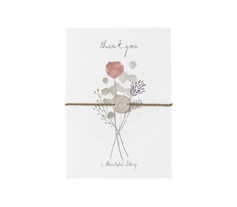 A Beautiful Story Jewelry Postcard - Flowers