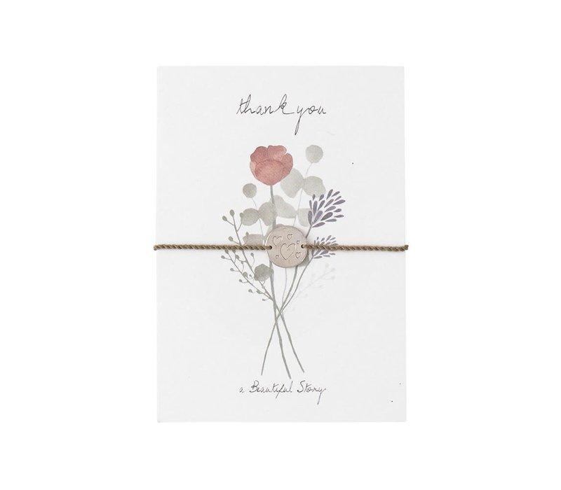A Beautiful Story Schmuck Karte - Blumen