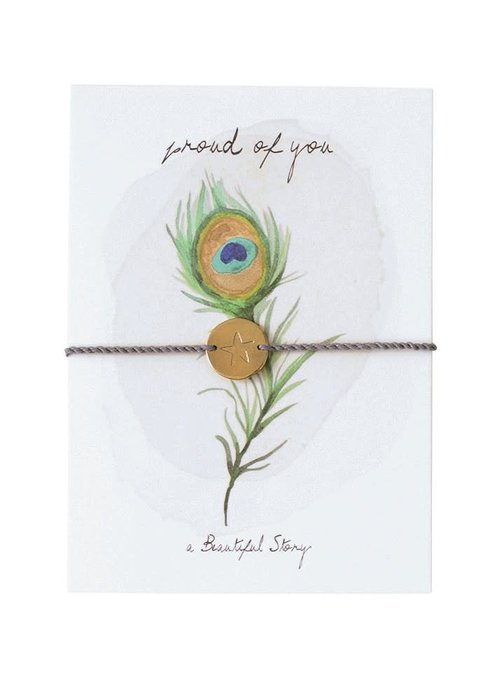 A Beautiful Story A Beautiful Story Jewelry Postcard - Peacock