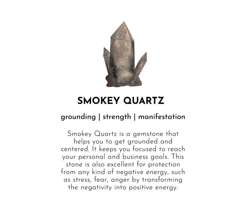 A Beautiful Story Gentle Silver Bracelet - Smokey Quartz