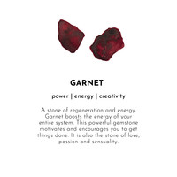 A Beautiful Story Cheerful Gold Necklace - Garnet