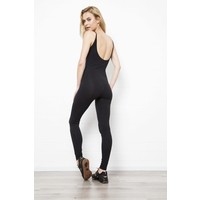 Funky Simplicity Catsuit - Black Green Snake