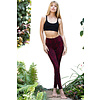 Funky Simplicity Funky Simplicity High Waist Legging - Red Black Snake