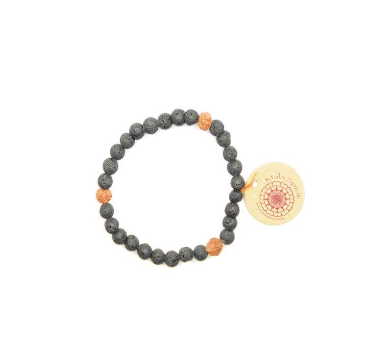 Mala Spirit Lava Rock Bracelet
