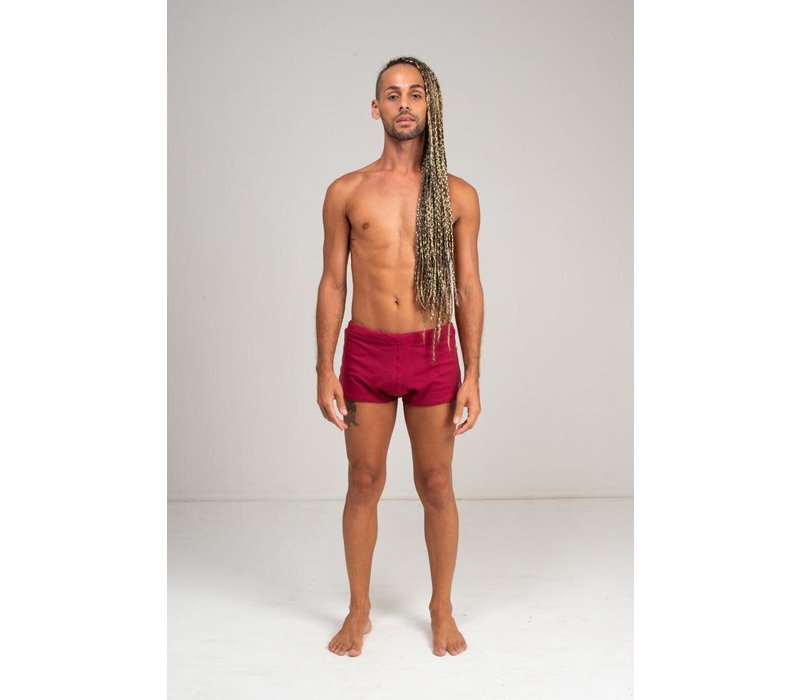 Shakti Activewear Brazilian Trunks - Red Wine
