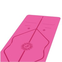 Liforme Gratitude Travel Yoga Mat 180cm 66cm 2mm - Grateful Pink