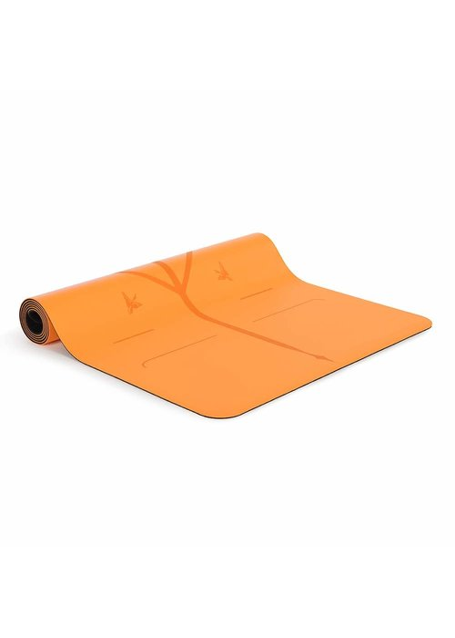 Liforme Liforme Happiness Travel Yogamat 180cm 66cm 2mm - Vibrant Orange