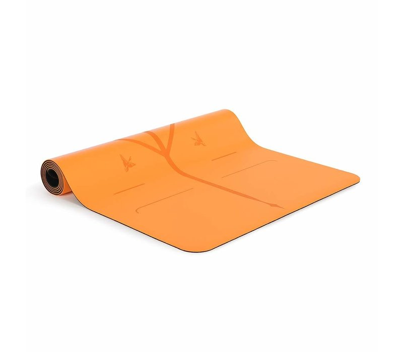 Liforme Happiness Travel Yoga Mat 180cm 66cm 2mm - Vibrant Orange