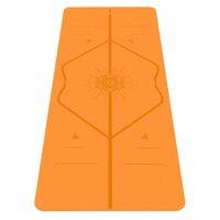 Liforme Happiness Travel Yogamat 180cm 66cm 2mm - Vibrant Orange