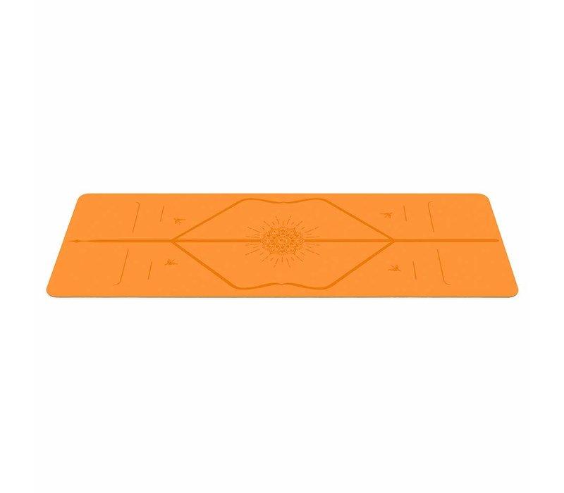 Liforme Happiness Reise Yogamatte 180cm 66cm 2mm - Vibrant Orange