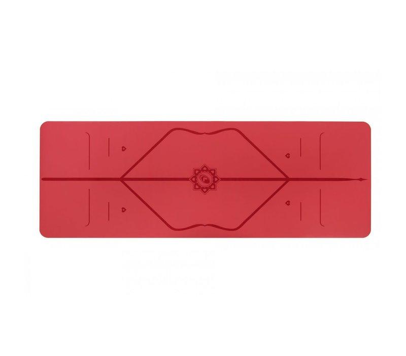 Liforme Love Reise Yogamatte 180cm 66cm 2mm - Rot