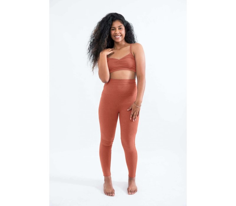 Sweetskins High Waist Leggings - Carnelian