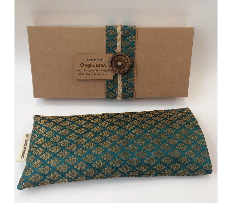 Kusala Oogkussen Zijde - Turquoise
