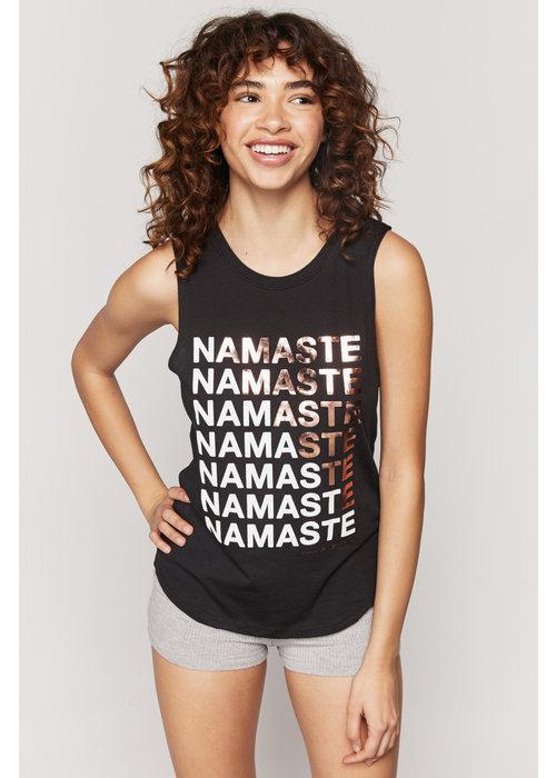 Spiritual Gangster Spiritual Gangster Namaste Muscle Tank - Vintage Black