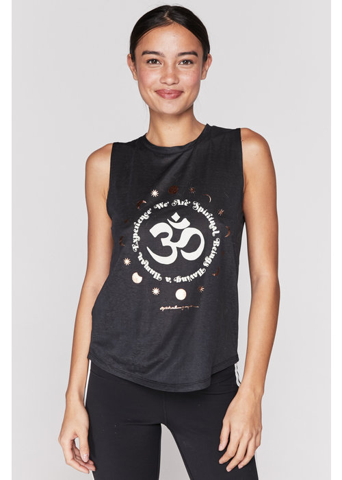 Spiritual Gangster Spiritual Gangster We Are Active Muscle Tank - Black