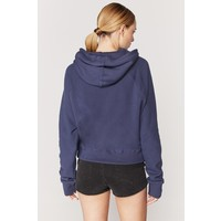 Spiritual Gangster Classic Kanga Pocket Hoodie - Dusty Navy