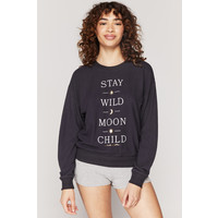 Spiritual Gangster Moon Child Malibu Crew Neck - Vintage Black