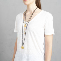 A Beautiful Story Radiant Gold Necklace - Black Onyx
