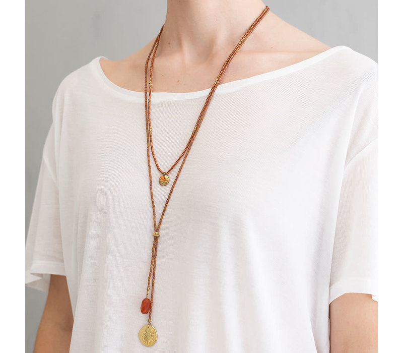 A Beautiful Story Truly Gold Necklace - Carnelian