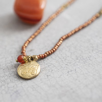 A Beautiful Story Truly Gouden Ketting - Carneool
