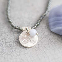 A Beautiful Story Truly Silver Necklace - Blue Lace Agate