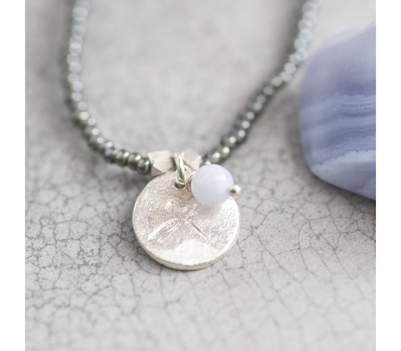 A Beautiful Story Truly Zilveren Ketting - Blauwe Agaat
