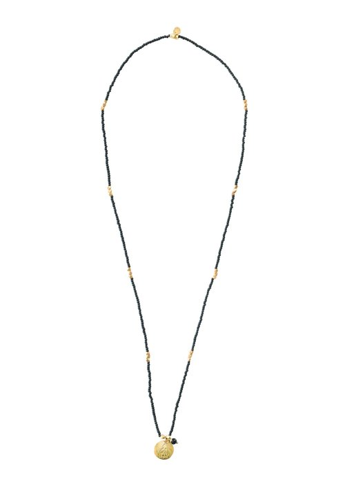 A Beautiful Story A Beautiful Story Truly Gouden Ketting - Zwarte Onyx