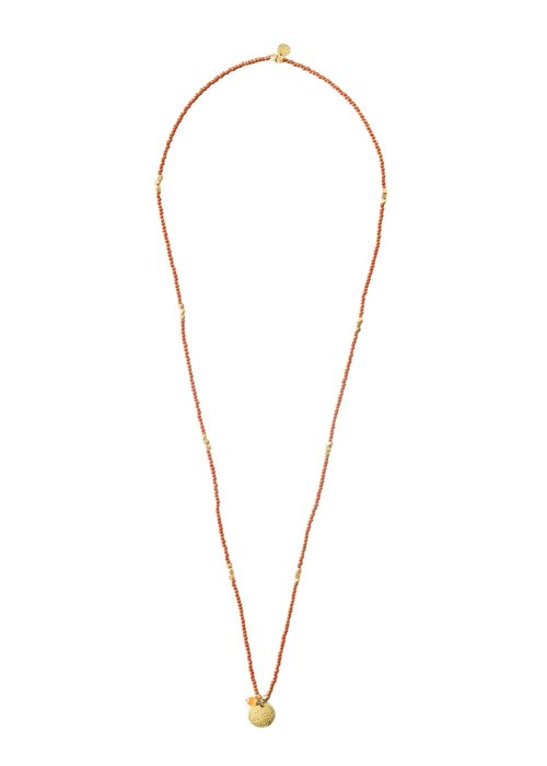 A Beautiful Story A Beautiful Story Truly Gold Necklace - Carnelian