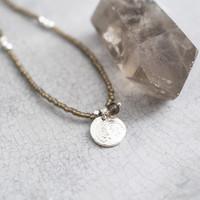 A Beautiful Story Truly Silver Necklace - Smokey Quartz