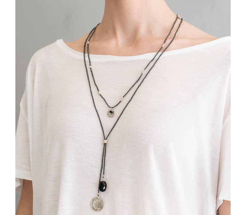 A Beautiful Story Truly Silver Necklace - Black Onyx