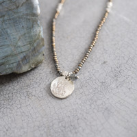 A Beautiful Story Truly Silver Necklace - Labradorite