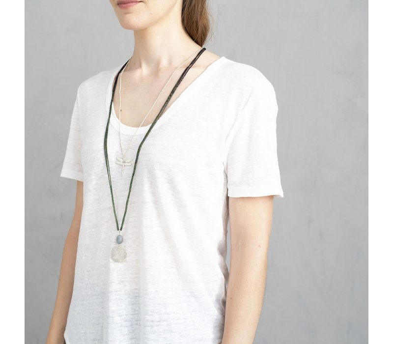 A Beautiful Story Paradise Silver Necklace - Labradorite