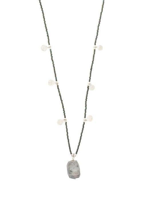 A Beautiful Story A Beautiful Story Charming Silver Necklace - Labradorite