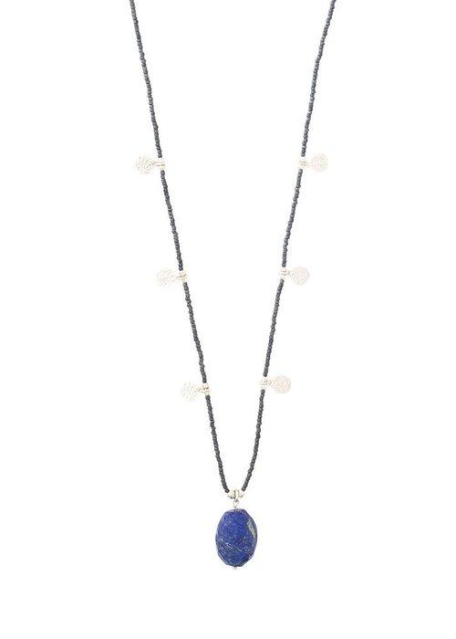 A Beautiful Story A Beautiful Story Charming Zilveren Ketting - Lapis Lazuli