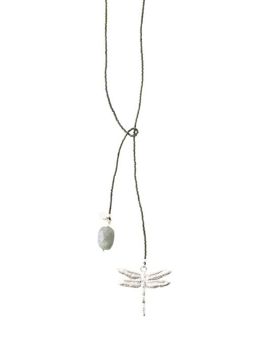 A Beautiful Story A Beautiful Story Nova Silver Necklace - Labradorite