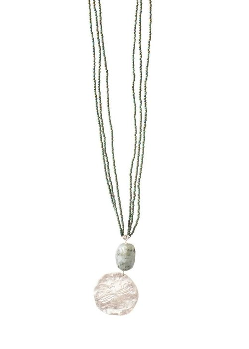 A Beautiful Story A Beautiful Story Cheerful Silver Necklace - Labradorite