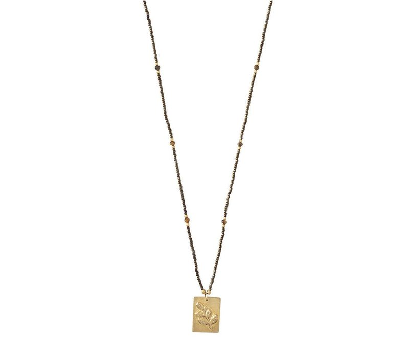 A Beautiful Story Delight Gold Necklace - Tiger Eye