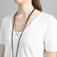 A Beautiful Story Delight Silver Necklace - Labradorite