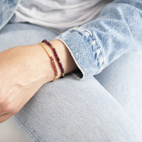 A Beautiful Story Refined Gouden Armband - Granaat