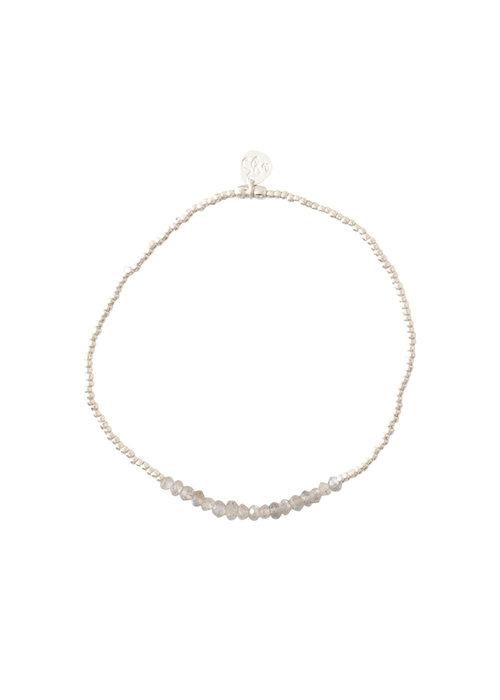 A Beautiful Story A Beautiful Story Refined Silver Bracelet - Labradorite