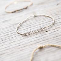 A Beautiful Story Refined Silver Bracelet - Labradorite