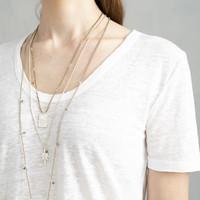 A Beautiful Story Paradise Silver Necklace - Smokey Quartz