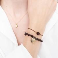 A Beautiful Story Gemstone Card - Garnet Gold Bracelet