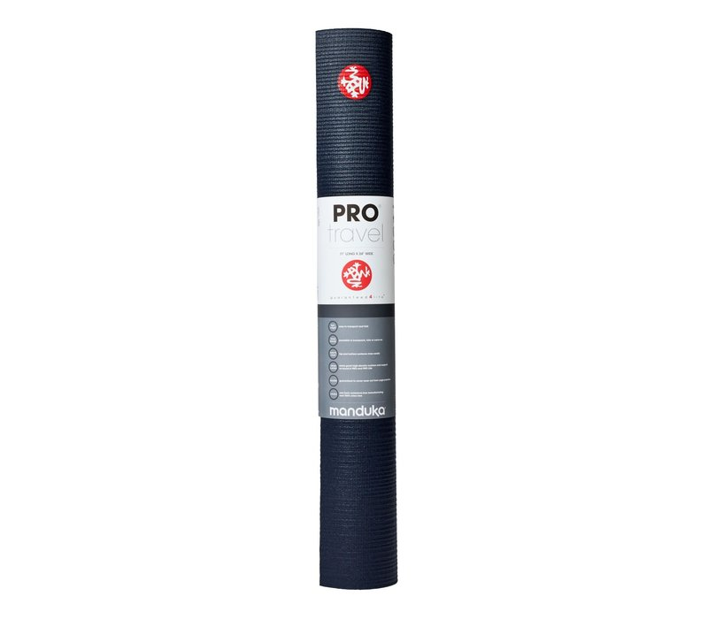 Manduka Pro Travel Yoga Mat 180cm 60cm 2.5mm - Midnight