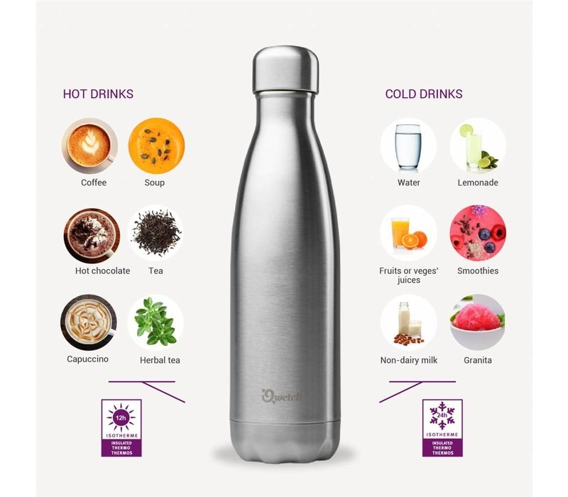 Qwetch Insulated Bottle 500ml - Black