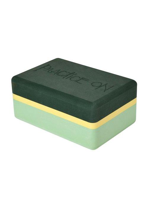 Manduka Manduka Recycled Foam Yoga Block - Green Ash