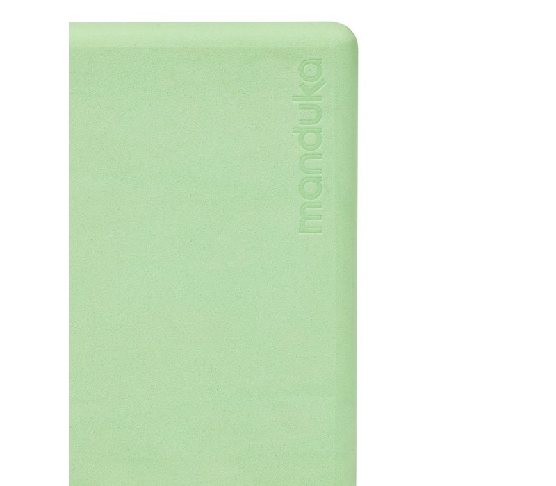 Manduka Recycled Foam Yoga Block - Green Ash