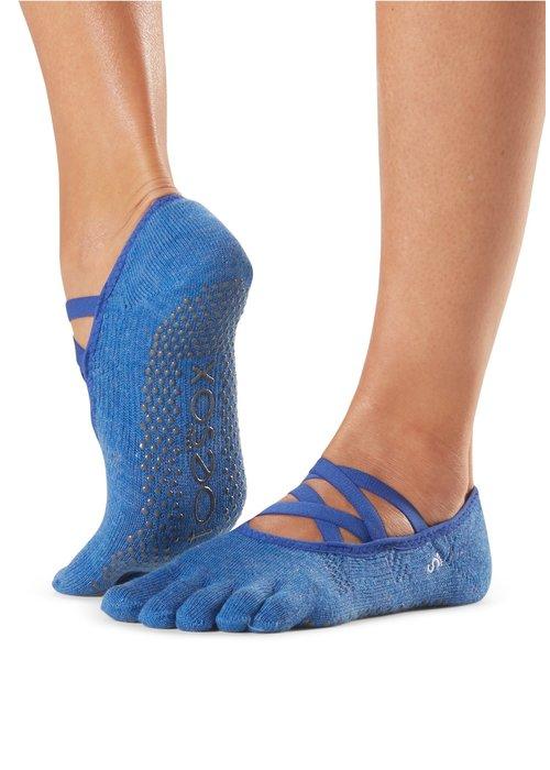 Toesox Toesox Yoga Sokken Elle Dichte Tenen - Azure