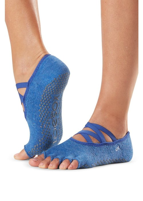 Toesox Toesox Yoga Sokken Elle Open Tenen - Azure